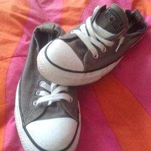 Women's converse grey shoe